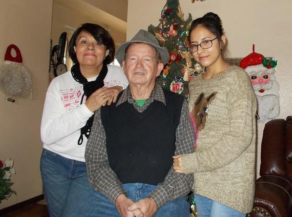 The Bodine family in El Paso, Christmas '14: Noemi, Dan and Kareli.